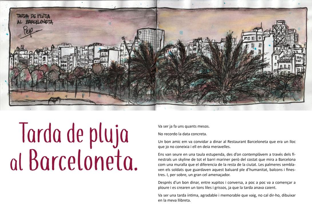 tarda de pluja al Barceloneta